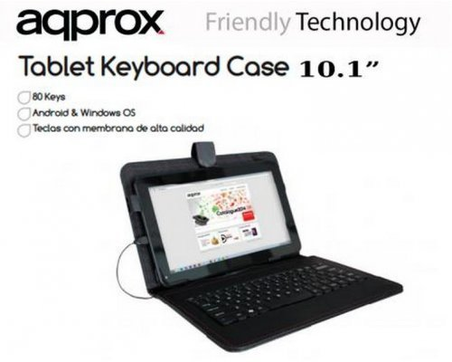 FUNDA + TECLADO APPROX TABLET 10.1""