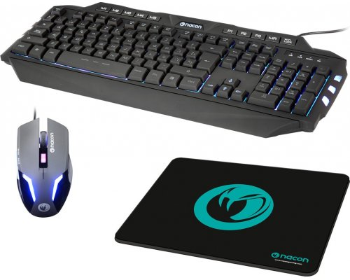 PACK TECLADO + RATÓN + ALFOMBRILLA NACON PC GAMING BUNDLE