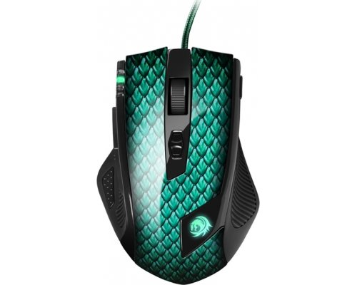 RATÓN SHARKOON GAMING DRAKONIA GREEN LÁSER 5000dpi