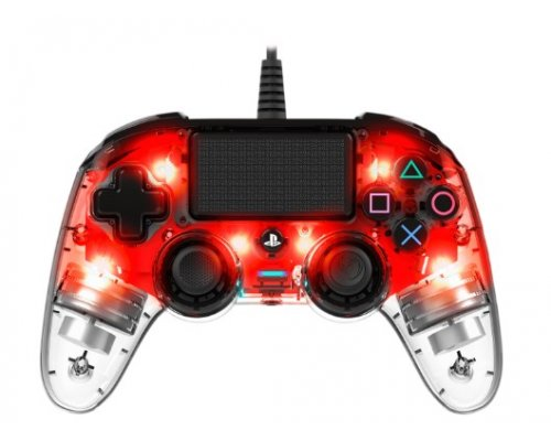 GAMEPAD NACON GAMING PS4 OFICIAL COLOURED ROJO