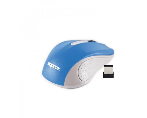 MOUSE OPTICO WIRELESS LITE GREY/BLUE APPROX
