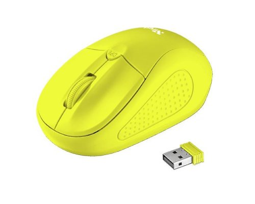 RATON OPTICO PRIMO WIRELESS NEON YELLOW TRUST