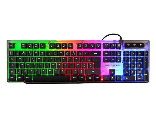 TECLADO THE G-LAB GAMING KEYZ NEON