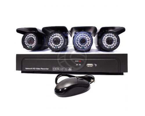 KIT NVR DVR DIGITAL NETWORK VIDEO RECORDER PARA VÍDEO VIGILA