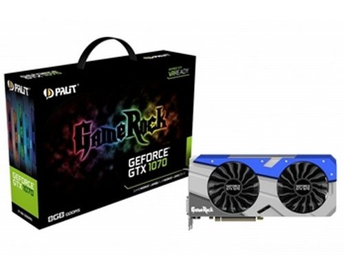 GRÁFICA nVIDIA PALIT GTX1070 GAME ROCK 8GB GDDR5