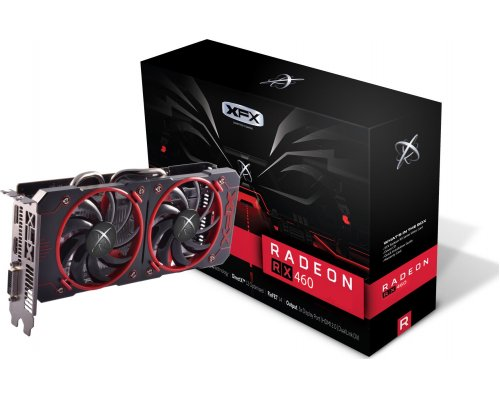 GRÁFICA AMD XFX RX460 DOUBLE DISSIPATION 4GB GDDR5