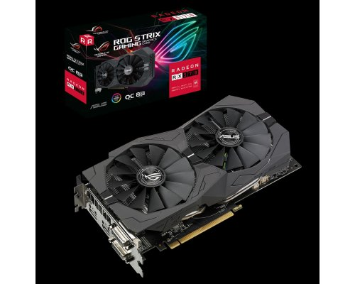 GRÁFICA AMD ASUS ROG STRIX RX570 GAMING OC 8GB GDDR5