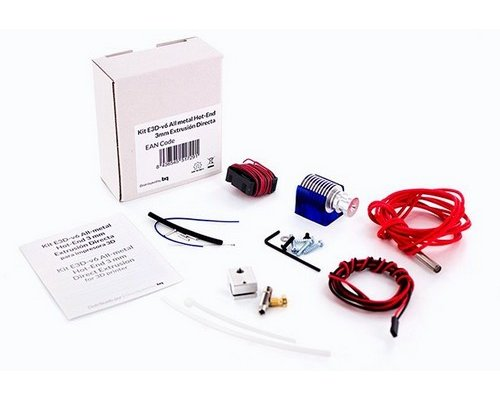 KIT BQ E3D-v6 METAL HOTEND 3mm EXTRUSION BOWDEN