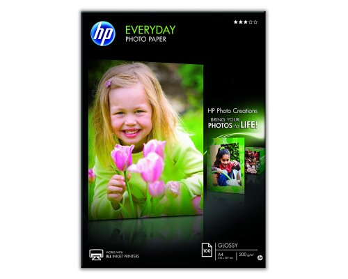 PAPEL FOTOGRÁFICO HP EVERYDAY GLOSSY A4 200gr