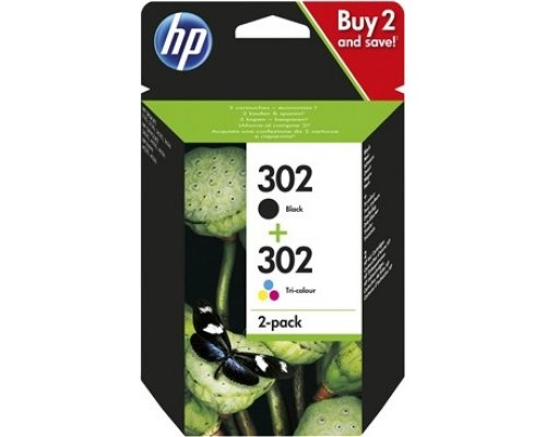 CARTUCHO ORIGINAL HP 302 PACK NEGRO&TRICOLOR