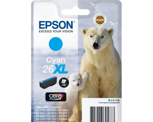 CARTUCHO ORIGINAL EPSON 26XL CIAN (T2632)