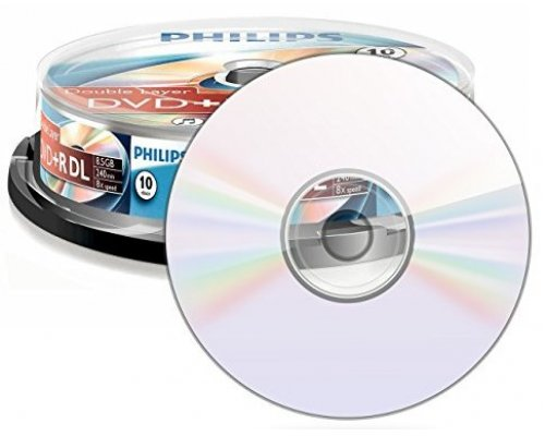 DVD+R DL PHILIPS 8X 8.5GB TARRINA 10u