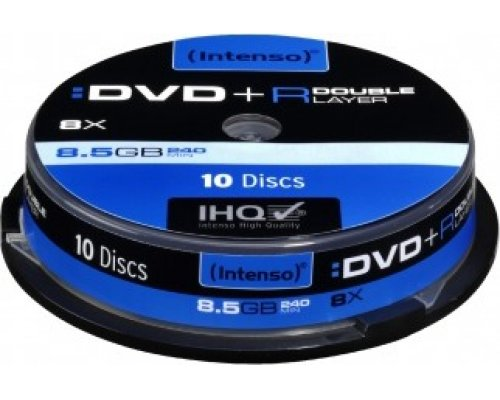 DVD+R DL INTENSO 8X 8.5GB TARRINA 10u