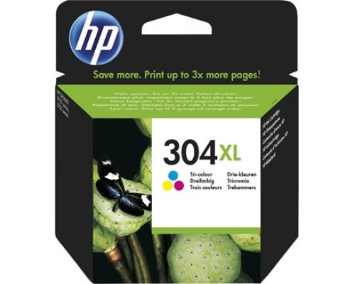 CARTUCHO ORIGINAL HP 304XL TRICOLOR (N9K07AE)