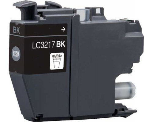 CARTUCHO COMPATIBLE BROTHER LC-3217BK NEGRO