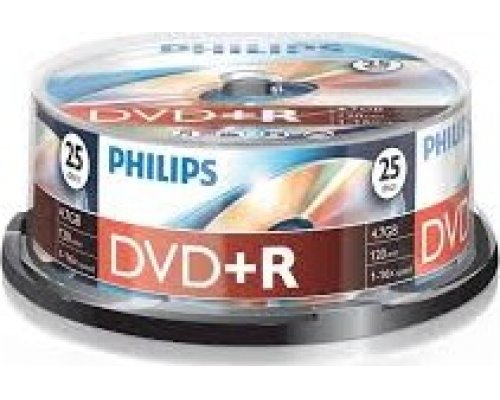 DVD+R PHILIPS 16X 4.7GB TARRINA 25u