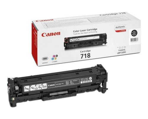 TONER BLACK CANON MF724/728/729CX/LBP7210/7660/7680 (718)
