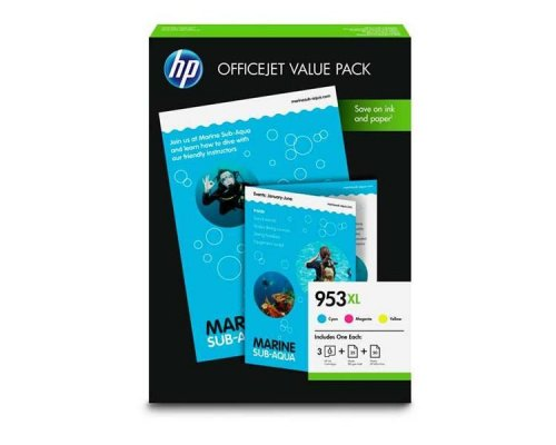 VALUE PACK CARTUCHO COLOR HP 953XL + PAPEL (1CC21AE)