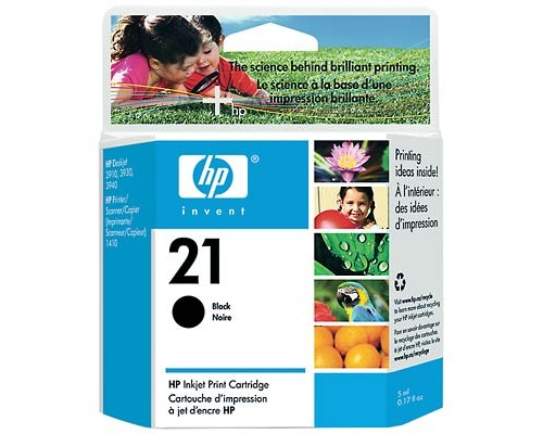 CARTUCHO ORIGINAL HP 21 NEGRO