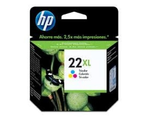 CARTUCHO ORIGINAL HP 22XL TRICOLOR (C9352CE)