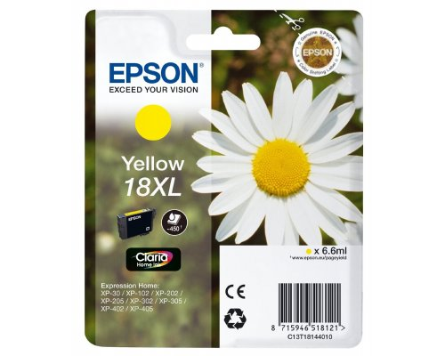 CARTUCHO ORIGINAL EPSON 18XL AMARILLO (T1814)