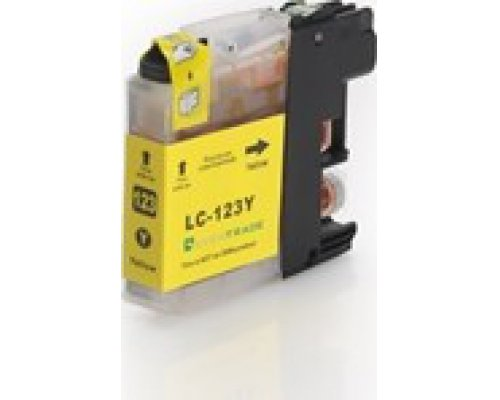 CARTUCHO COMPATIBLE BROTHER LC121/123Y AMARILLO