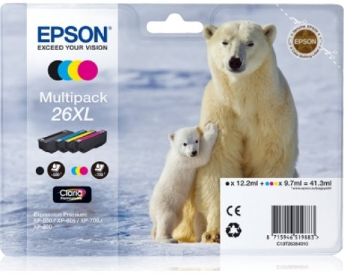 CARTUCHO ORIGINAL EPSON 26XL MULTIPACK