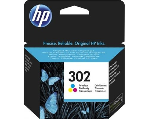 CARTUCHO ORIGINAL HP 302 TRICOLOR (F6U65AE)