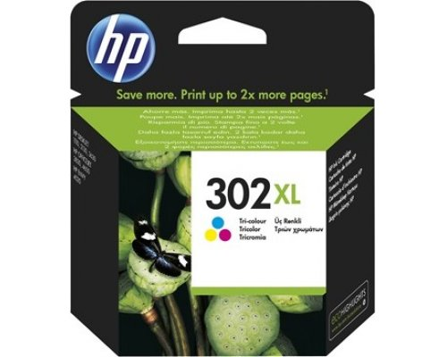 CARTUCHO ORIGINAL HP 302XL TRICOLOR (F6U67AE)