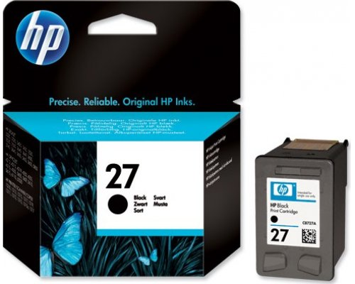 CARTUCHO ORIGINAL HP 27 NEGRO (C8727AE)