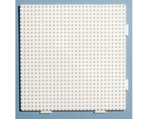 BASE PEGBOARD HAMA MIDI BEADS CONECTABLE BLANCO 29x29 15cm