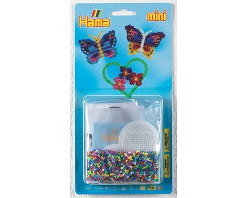 PACK HAMA MINI MARIPOSAS 2000 + PLACA HEXAGONAL + PAPEL