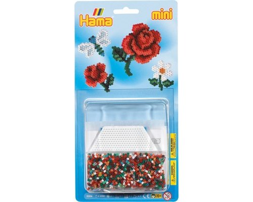 PACK HAMA MINI FLORES 2000 + PLACA HEXAGONAL + PAPEL