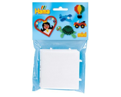 BASE PEGBOARD HAMA MINI BEADS CONECTABLE 28x28 PACK DOS UNID