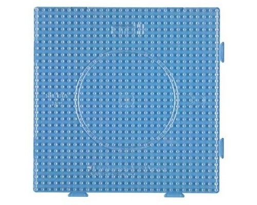 BASE PEGBOARD HAMA MIDI BEADS CONECTABLE 29x29 TRANSPARENTE