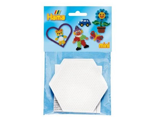 BASE PEGBOARD HAMA MINI HEXAGONO PACK 2