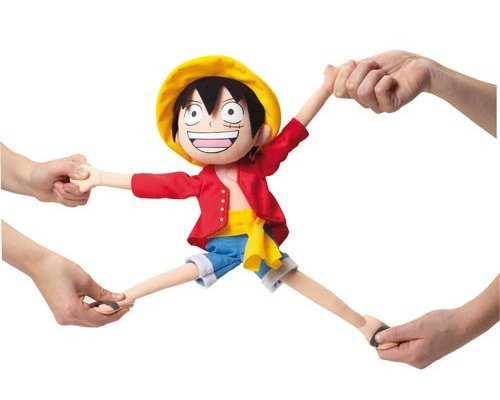PELUCHE ONE PIECE: LUFFY D. MONKEY (ELÁSTICO) 40cm