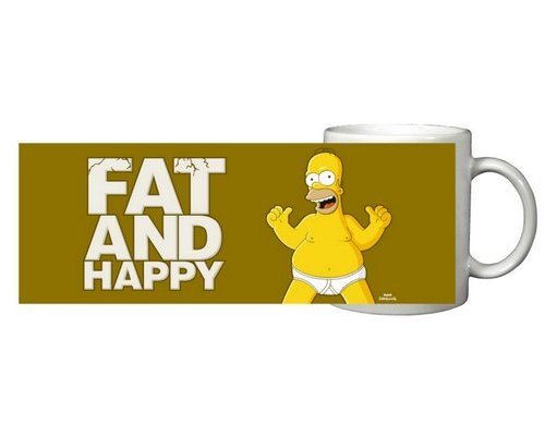 TAZA HOMER FAT AND HAPPY (LOS SIMPSON)