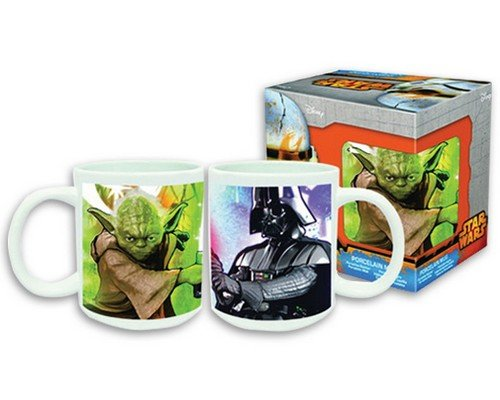 TAZA STAR WARS YODA & DARTH VADER