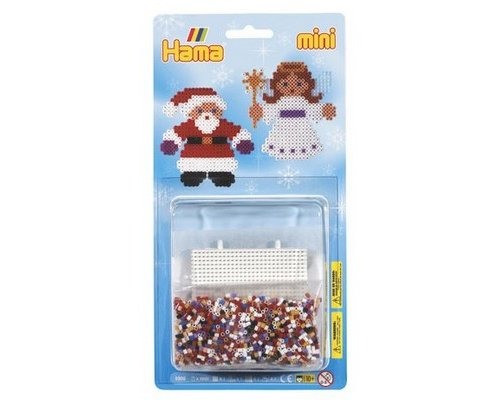 PACK HAMA MINI NAVIDAD 2000 + PLACA HEXAGONAL + PAPEL