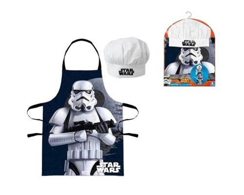 SET DELANTAL & GORRO STORMTROOPER (STAR WARS)