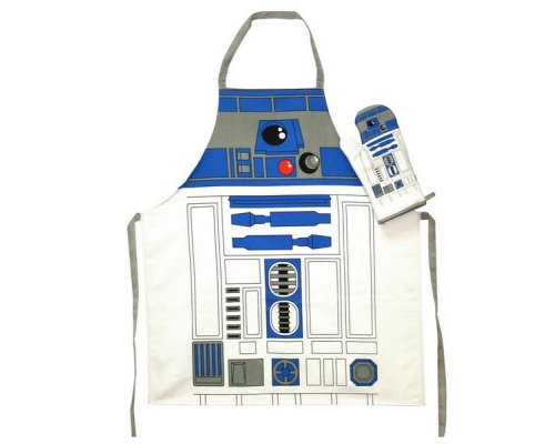 DELANTAL + GUANTE HORNO STAR WARS R2-D2