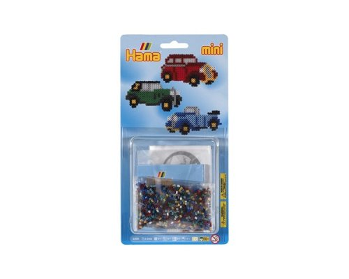 PACK HAMA MINI COCHES CLÁSICOS + PLACA HEXAGONAL + PAPEL