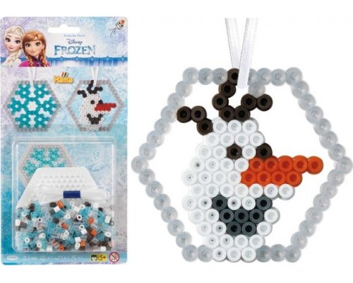 PACK HAMA MIDI FROZEN 400 PLACA HEXAGONAL NIEVE & OLAF