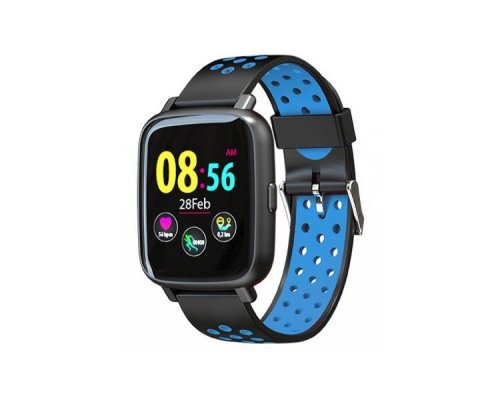 SMARTWATCH SPORT XS35 BLACK/BLUE BILLOW
