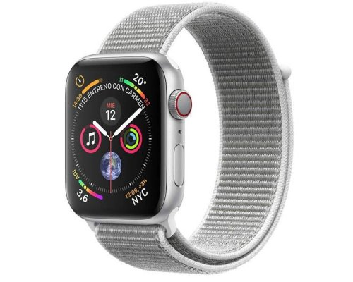 APPLE WATCH SERIES 4 GPS+CELL 40mm PLATA CORREA LOOP NACAR