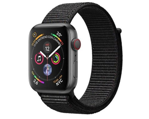 APPLE WATCH SERIES 4 GPS+CELL 44mm SPACE GREY CORREA LOOP