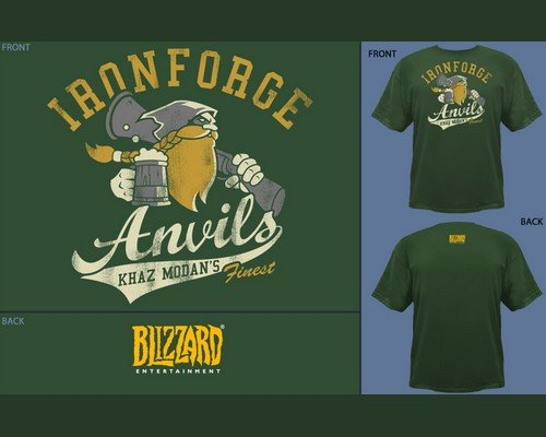 CAMISETA WOW IRONFORGE ANVILS FOREST GREEN S