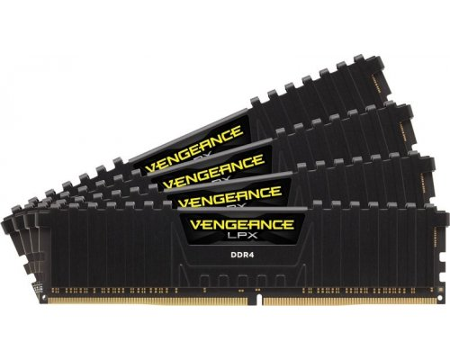MEMORIA DDR4 2400 CORSAIR VENGEANCE LPX BLACK 4x16GB