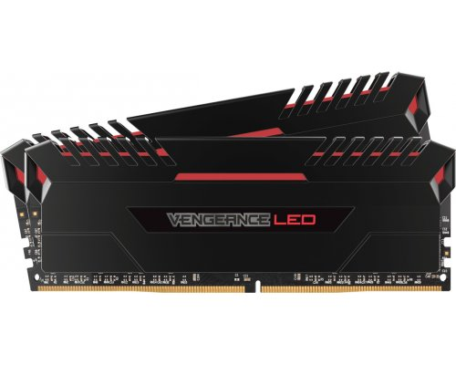 MEMORIA DDR4 3000 CORSAIR VENGEANCE LED ROJO 2x8GB